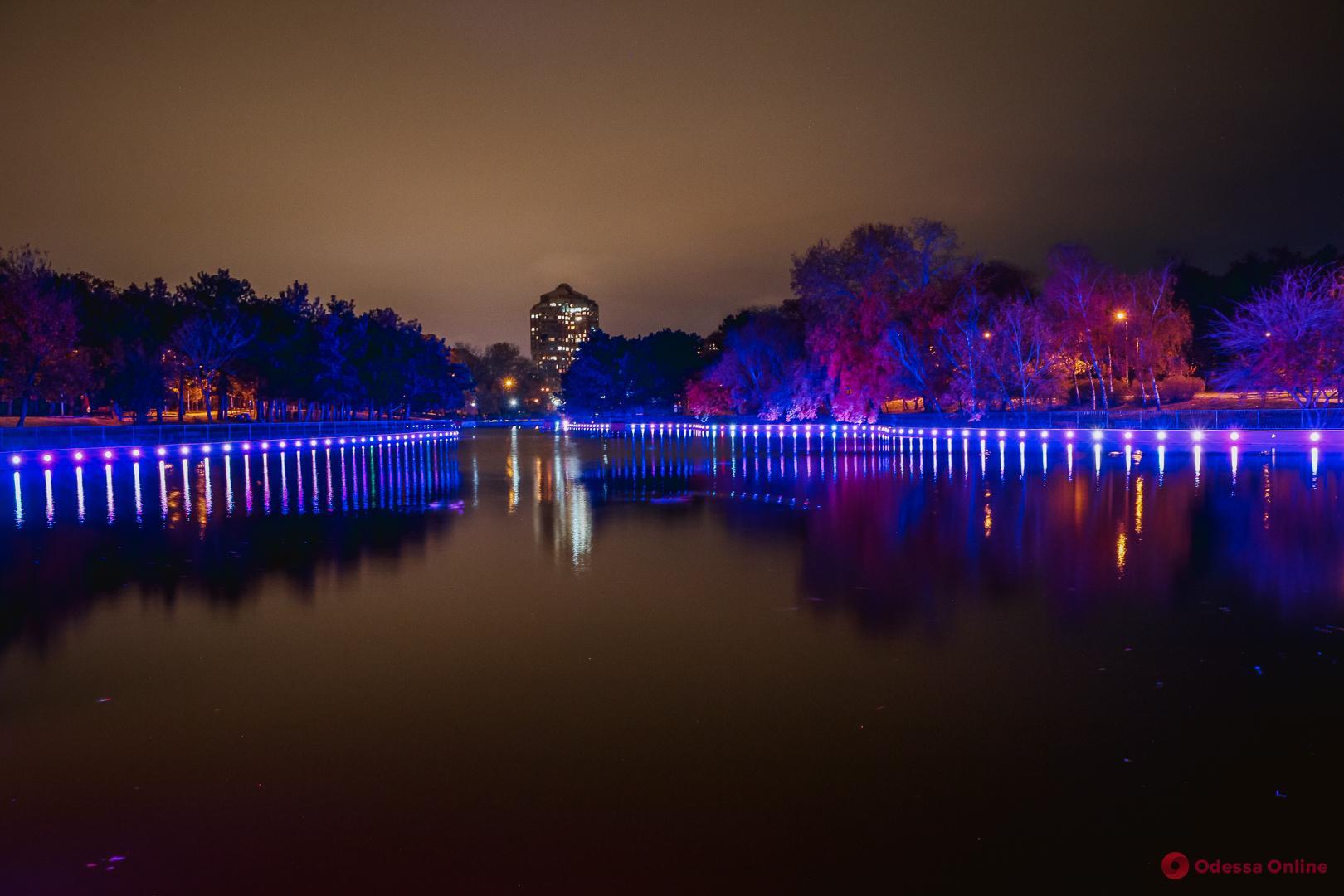 Таинственная ночь в парке Победы (фото, видео)