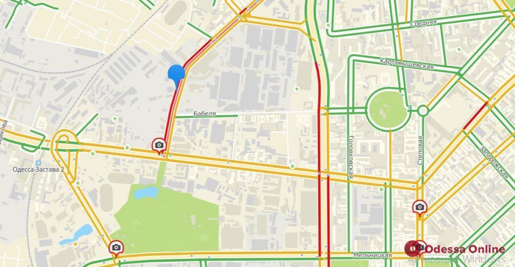 Дорожная обстановка в Одессе: большие пробки на Черемушках