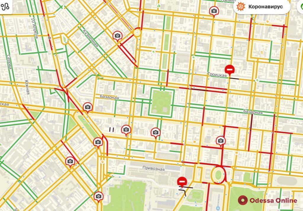 Дорожная обстановка в Одессе: пробки на Таирова, Черемушках, Слободке и Фонтане