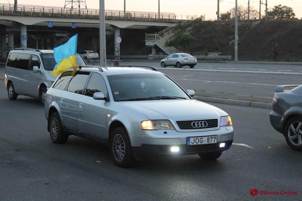 Одесские владельцы машин на еврономерах устроили автопробег протеста (фото)