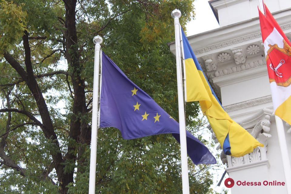 Одесская полиция открыла уголовное производство по факту надругательства над флагом Евросоюза