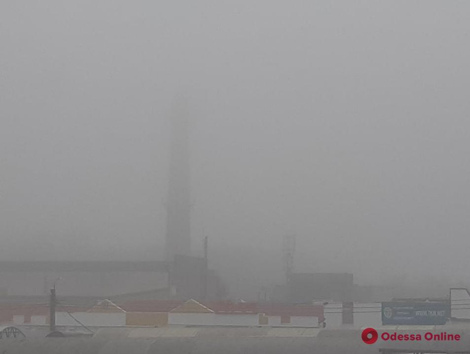 Окрестности Одессы накрыл густой туман (фото)