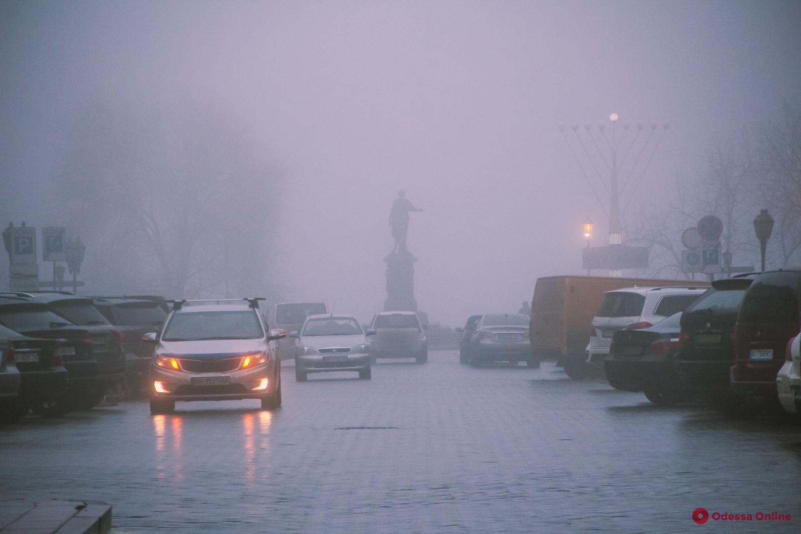 Одесская полиция предупреждает водителей о сильном тумане