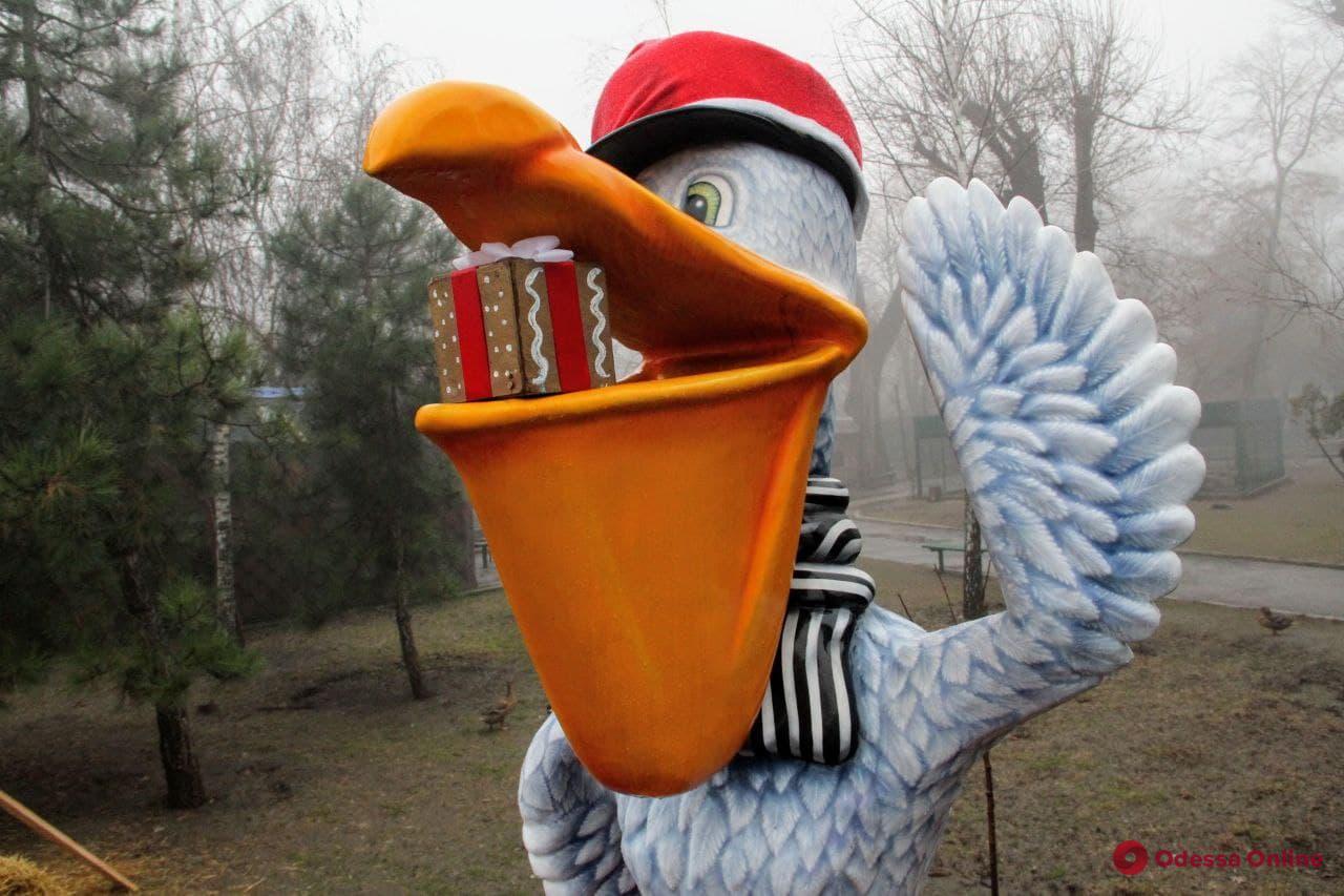 В Одесском зоопарке организовали новогодние фотозоны, но праздник в этом году устраивать не будут
