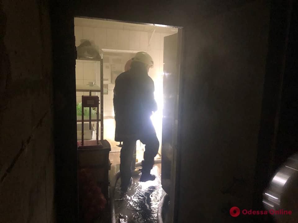 В кафе на поселке Котовского тушили пожар (фото)