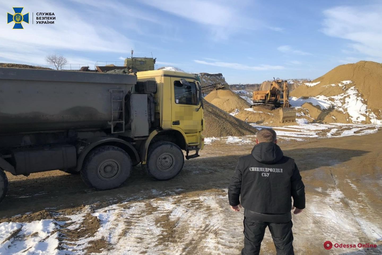 В Одесской области СБУ пресекла масштабную незаконную добычу песка