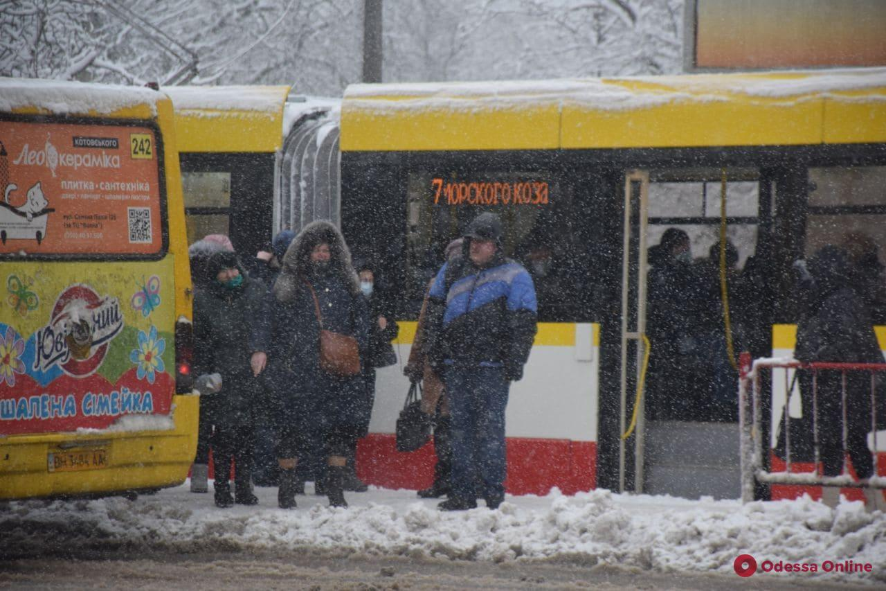 В Одессе из-за непогоды не ходят трамваи по двум маршрутам