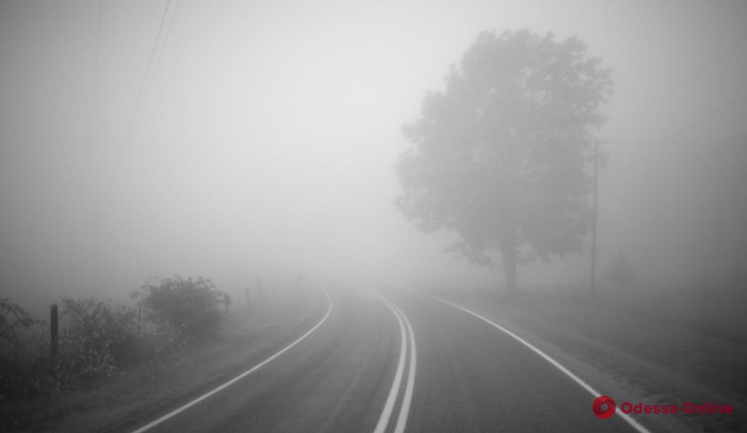 Полиция Одесской области призывает водителей быть осторожными из-за тумана и гололедицы