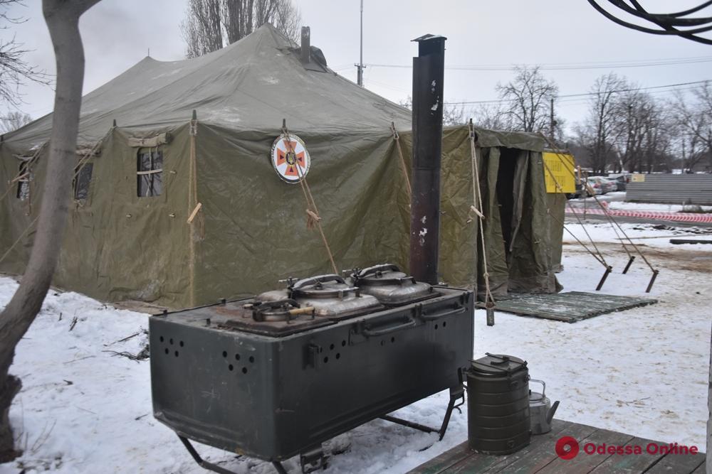 На поселке Котовского развернули пункт обогрева