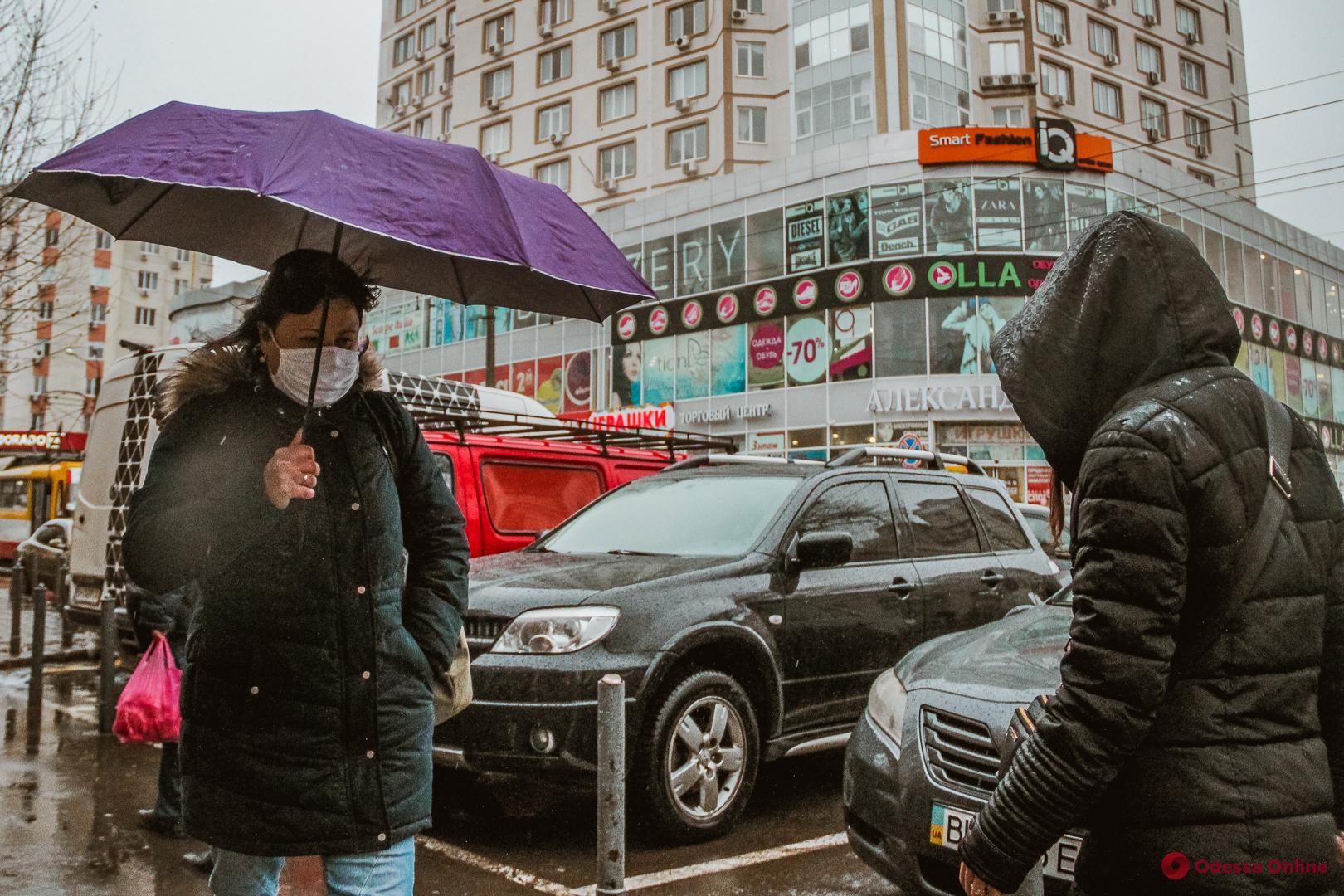 Дождливый и теплый январь в Одессе (фоторепортаж)
