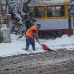 снег погода коммунальщик
