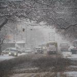 снег погода транспорт трамвай