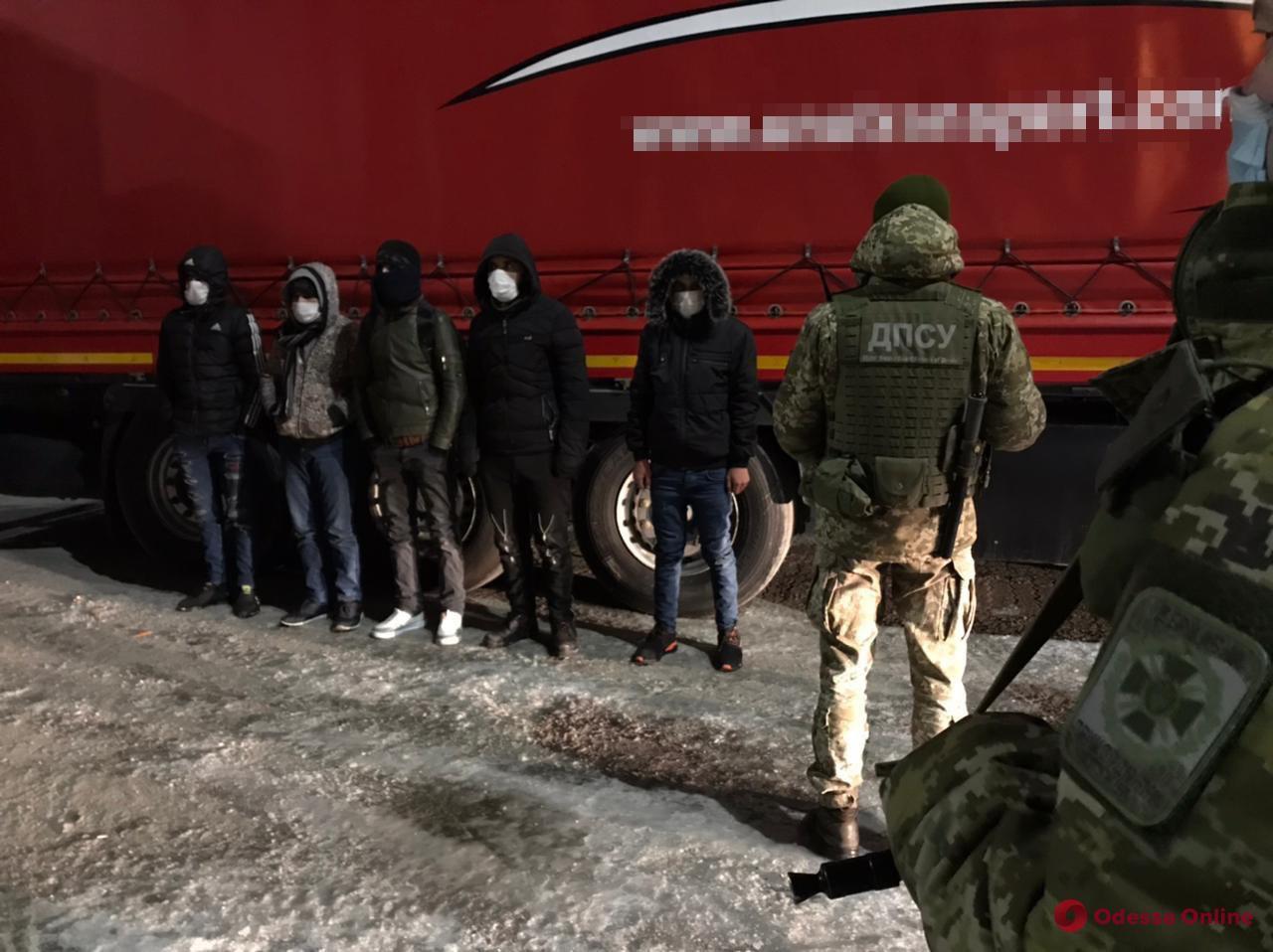 В порту Черноморска в прицепе с автомаслом обнаружили группу нелегалов из Сирии