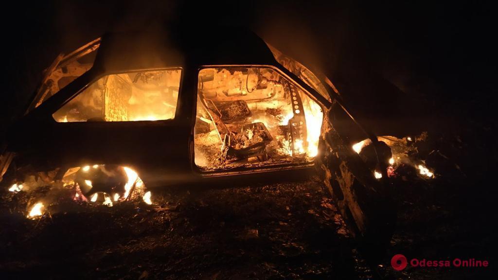 В Одесской области сгорел автомобиль «черных» лесорубов