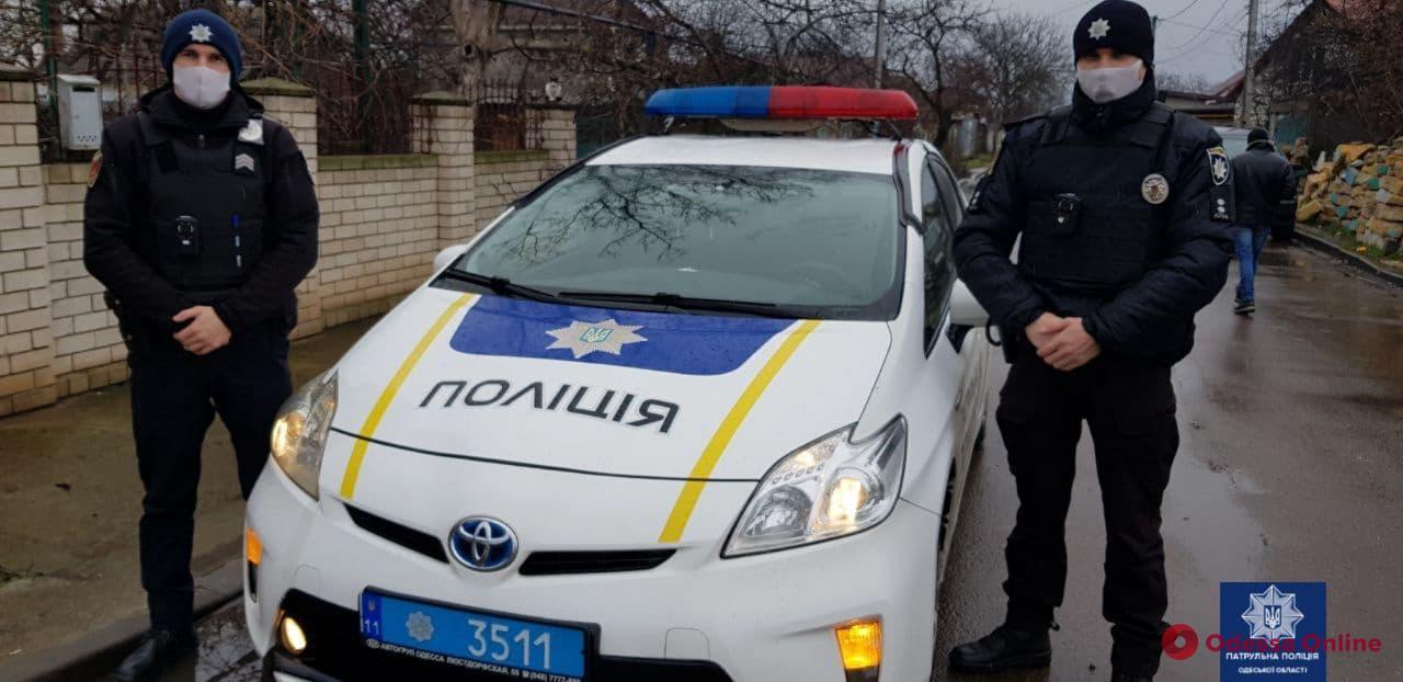 Одесские патрульные спасли мужчину, который хотел покончить с собой