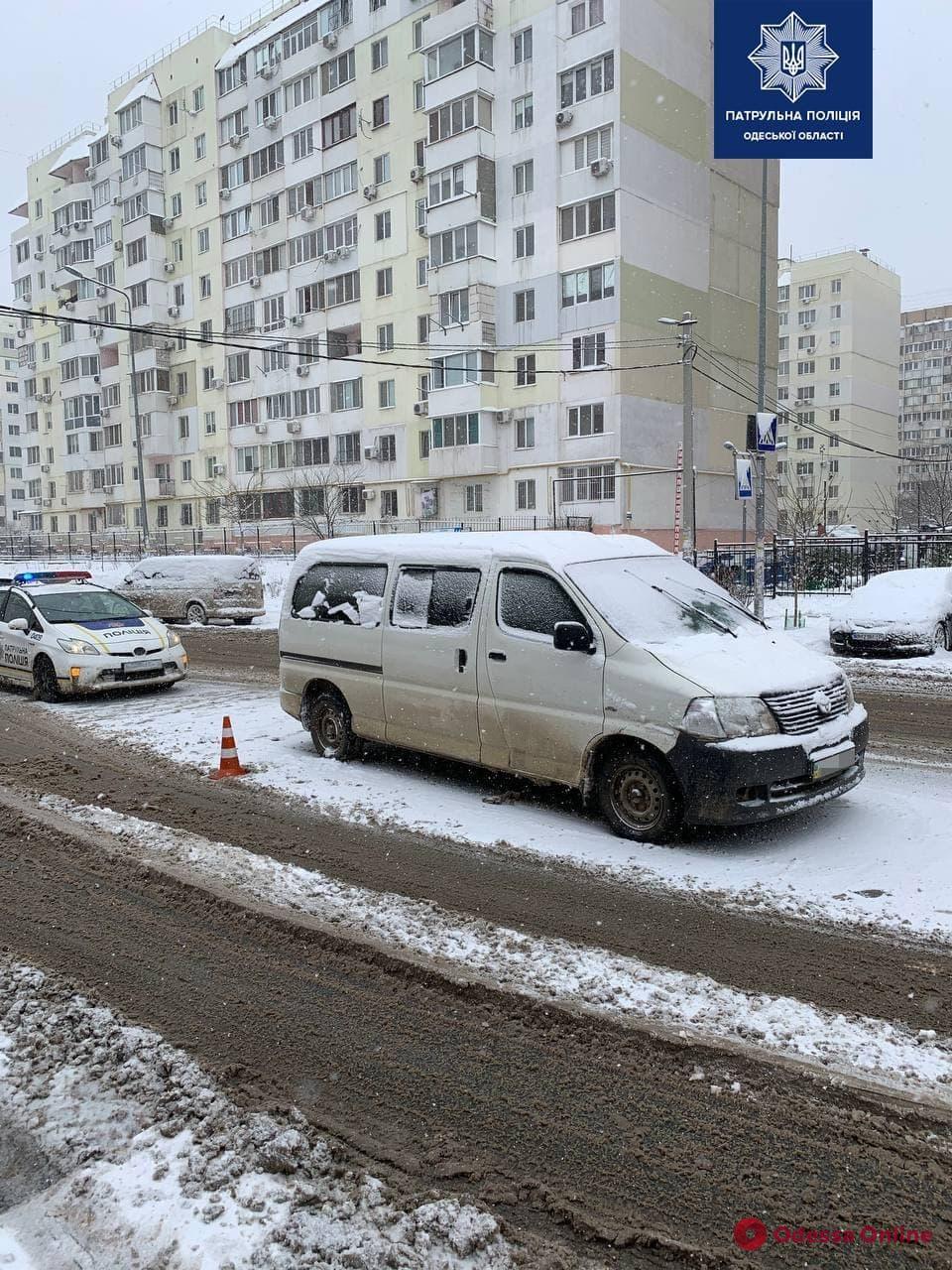 В Одессе на поселке Котовского водитель автомобиля Toyota сбил пешехода