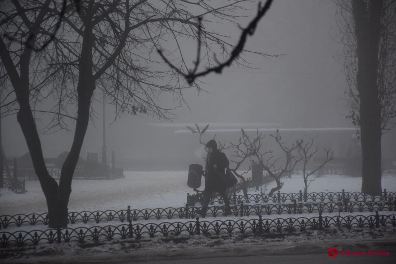 Утренний туман в Одессе (фото)