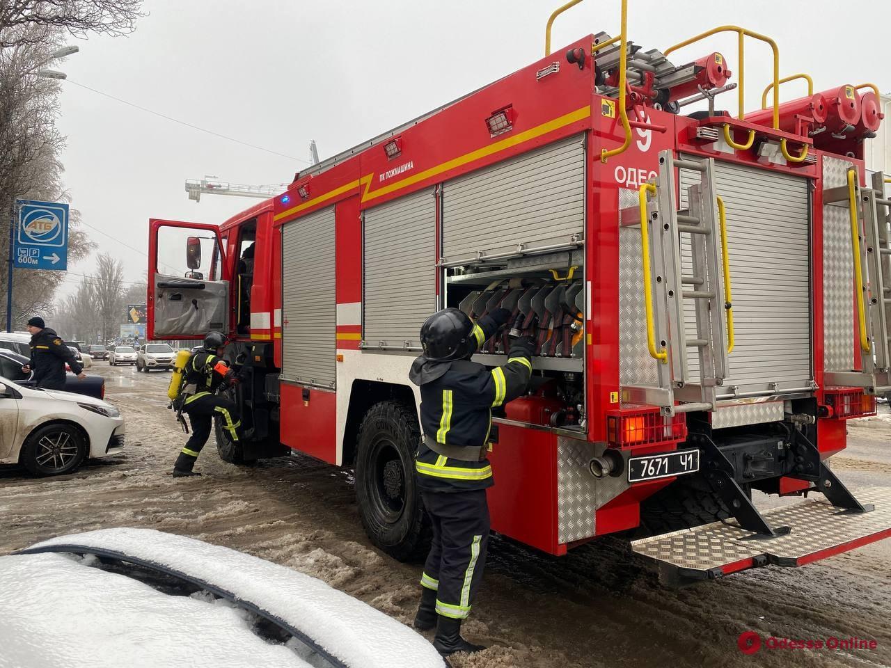 В одесском суде вспыхнул пожар