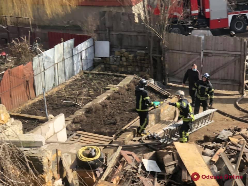 На Слободке во время пожара спасли мужчину