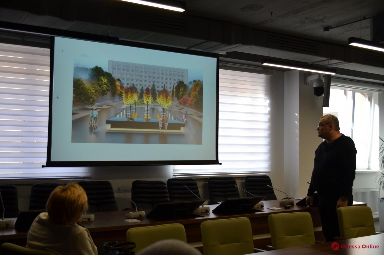 В Одессе представили концептуальный проект мемориала воинам, погибшем в зоне АТО/ООС