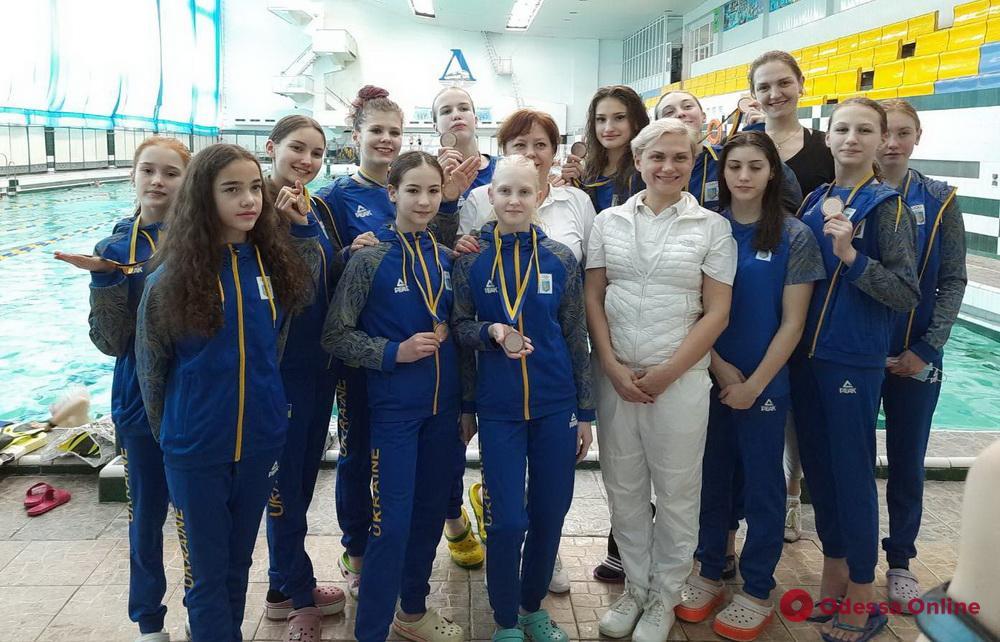 Артистическое плавание: одесские «синхронистки» завоевали медали чемпионата Украины