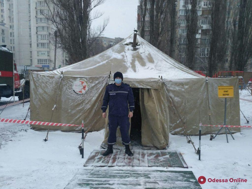 Непогода: на поселке Котовского и Таирова развернули пункты обогрева