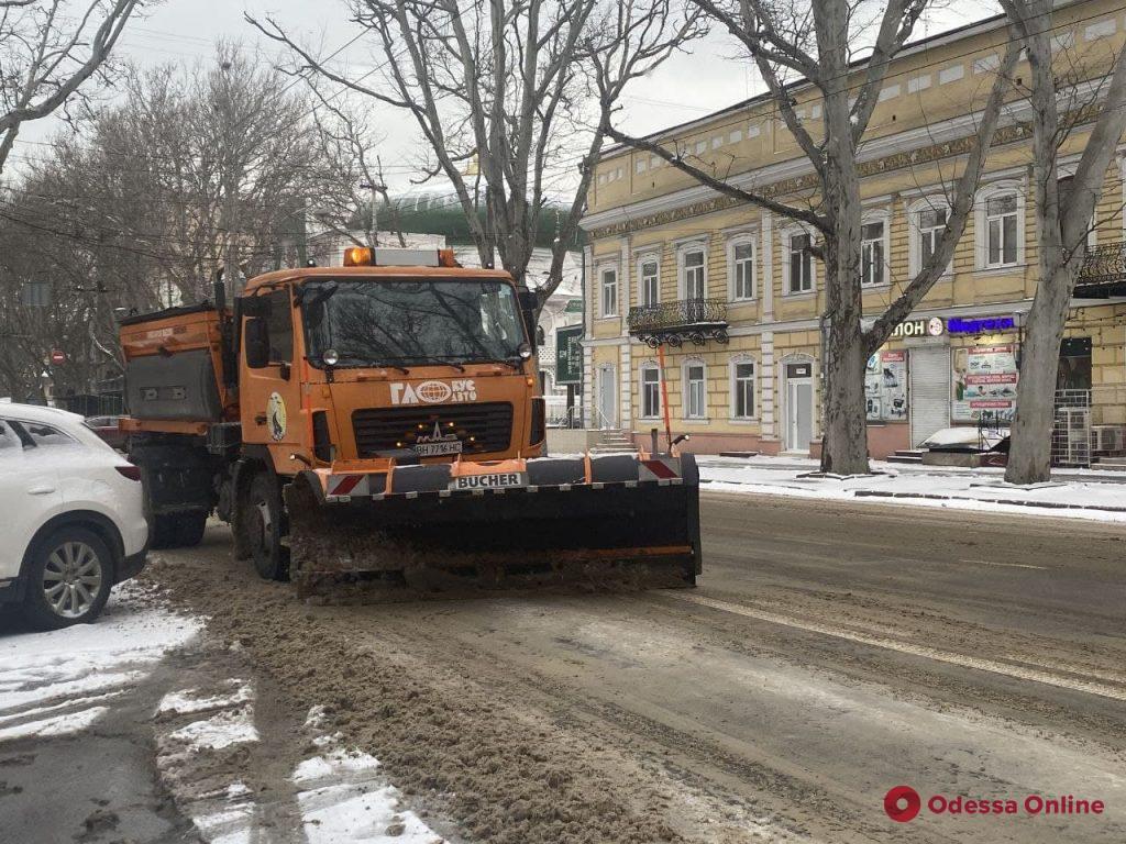 Снег и штормовой ветер: в Одессе с ночи дороги чистят порядка сотни единиц спецтехники (фото, видео, обновлено)