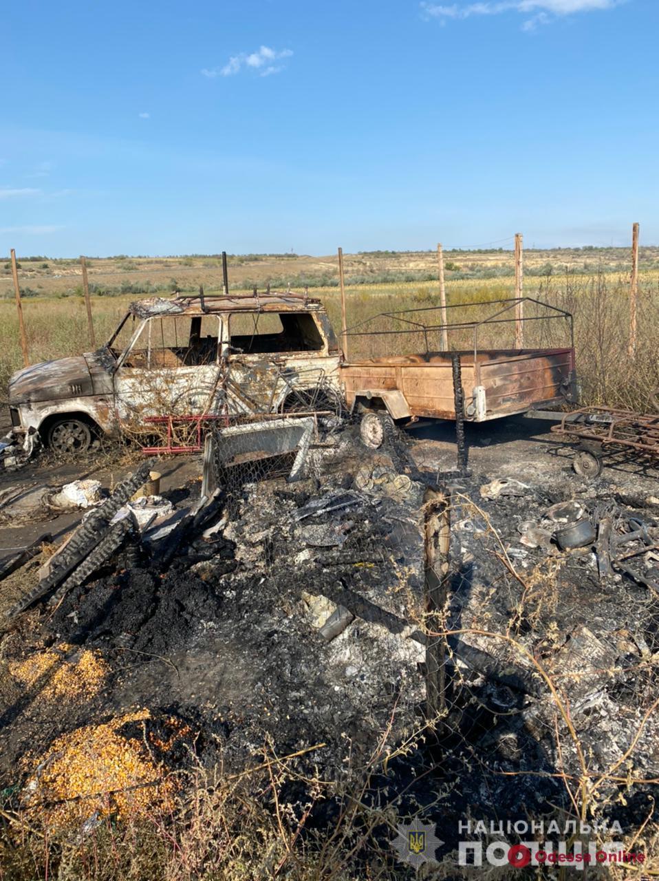 В Одесской области рецидивисту предъявили подозрение в поджоге хозпостройки и автомобиля односельчанки