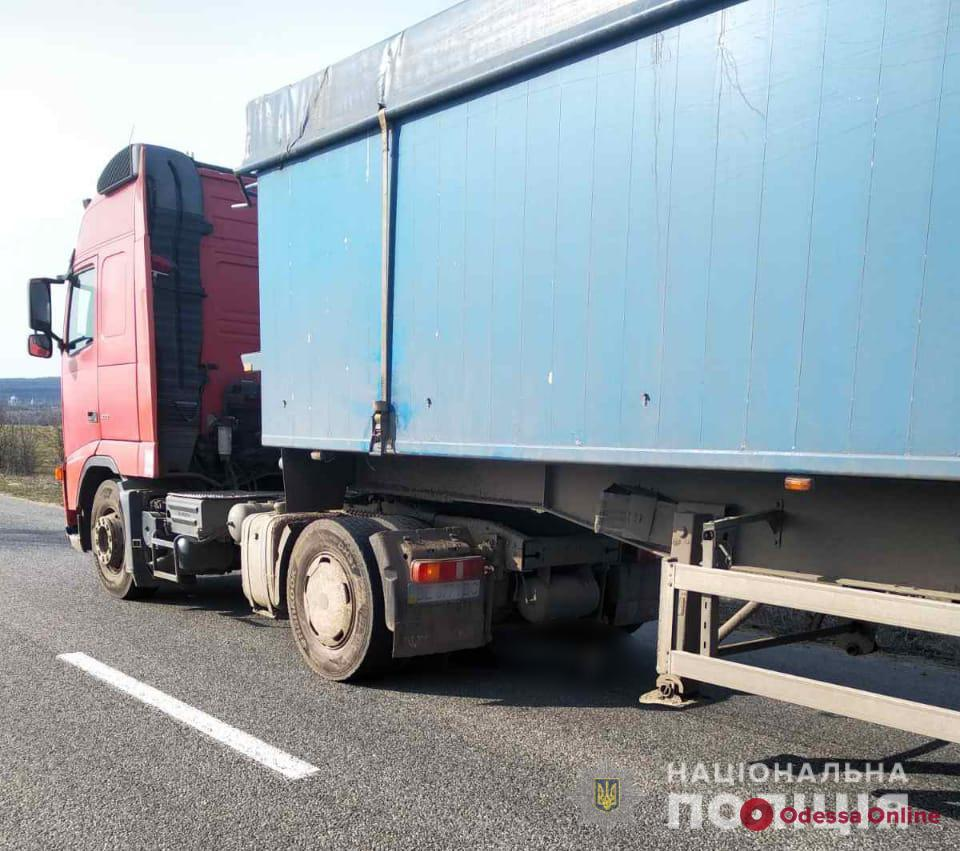 В Одесской области грузовик переехал лежащего на дороге мужчину