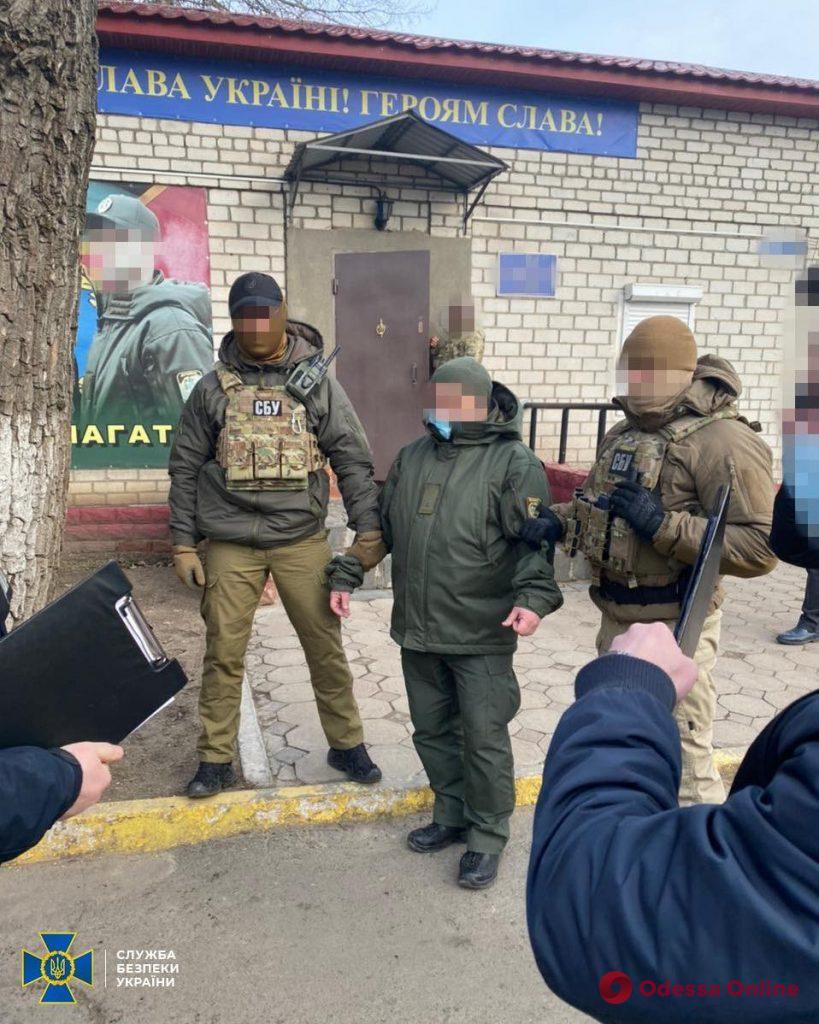 СБУ задержала на взятке замначальника отдела Подольского погранотряда