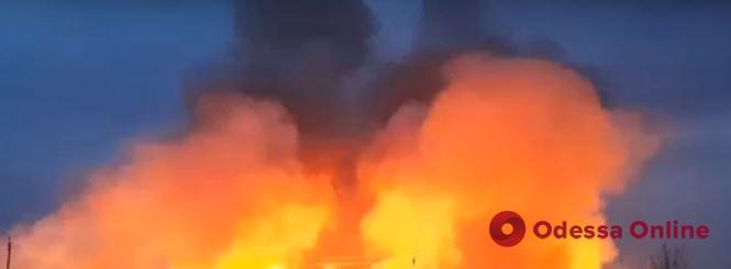 В Измаиле произошел масштабный пожар