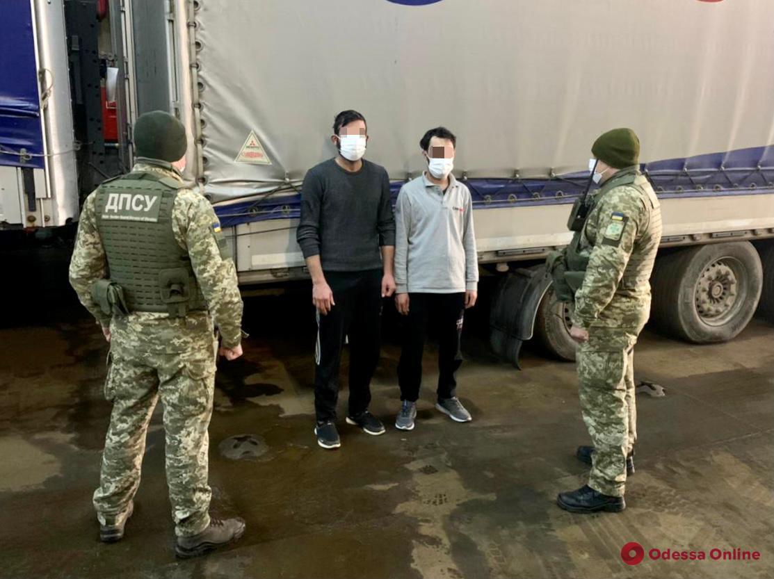 Прятались в прицепе фуры: в Черноморском порту пограничники обнаружили сирийцев-нелегалов
