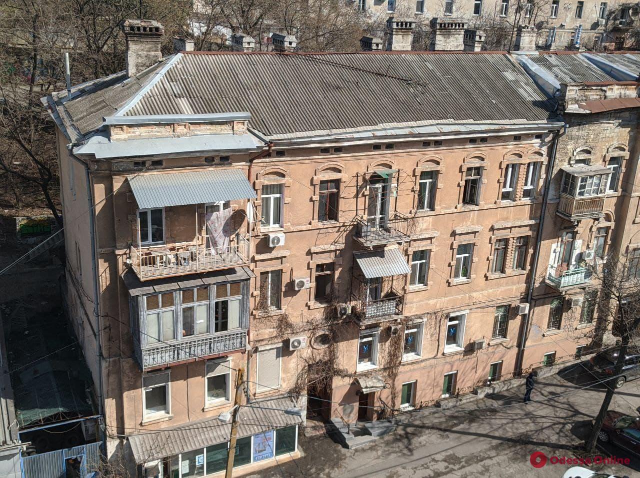 В центре Одессы во время пожара погиб мужчина