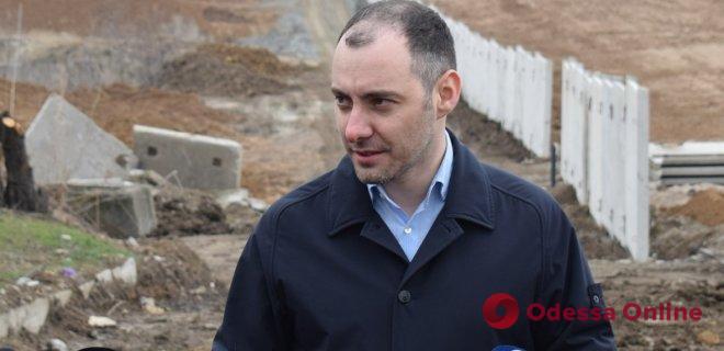 В Одессе начали строить новую дорогу в порт