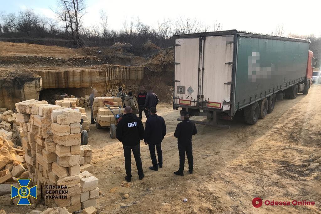 Ущерб на 25 миллионов: в Одесской области СБУ «накрыла» нелегальный карьер по добыче известняка