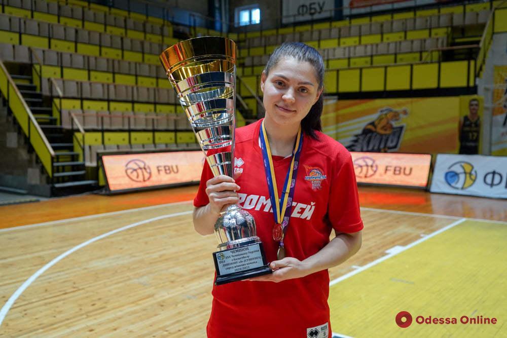 Одесская баскетболистка завоевала «золото» украинской Суперлиги