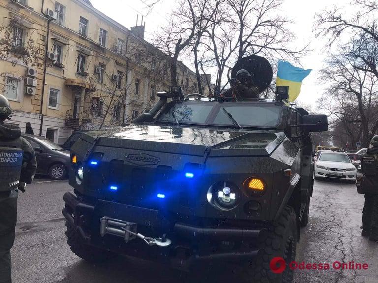 В Одессе проходят совместные учения Нацгвардии, полиции и военных