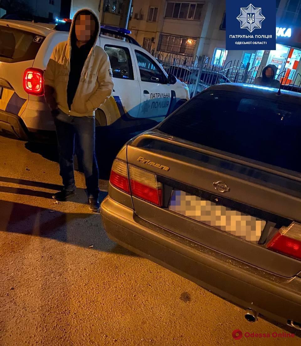 Одесские патрульные поймали водителя под кайфом