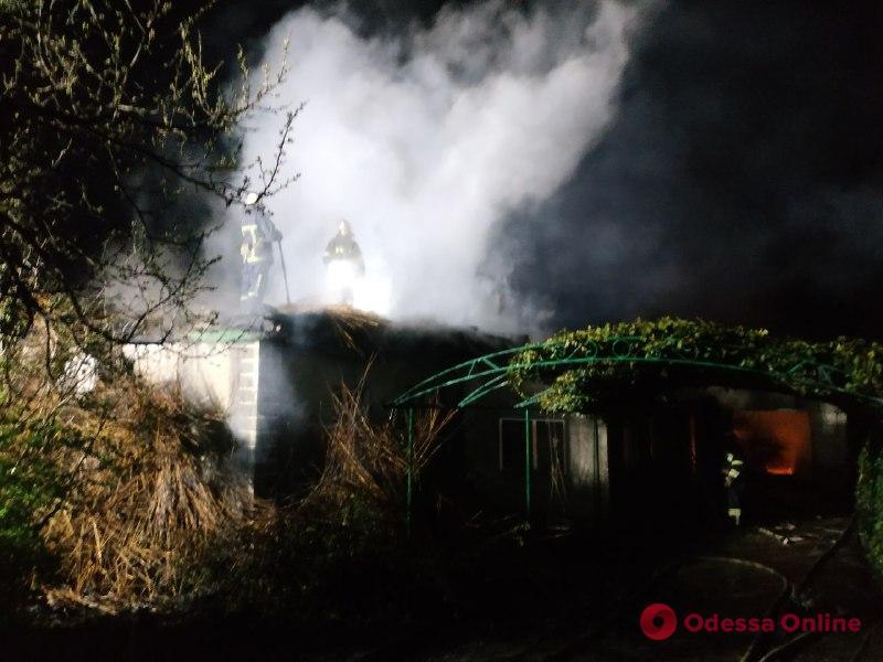 В Одесской области ночью сгорел дотла частный дом