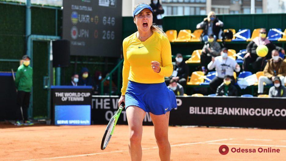 Теннис: Свитолина принесла победу сборной Украины над командой Японии
