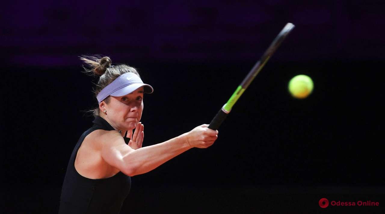 Теннис: Элина Свитолина в двухчасовой «битве» проиграла первой ракетке мира