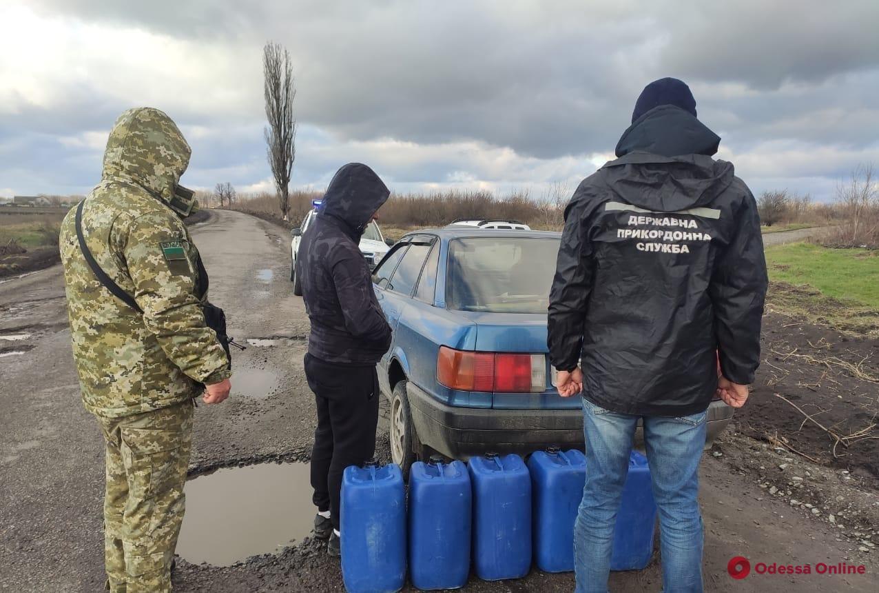 В Одесской области пограничники задержали автомобиль с контрафактным коньяком