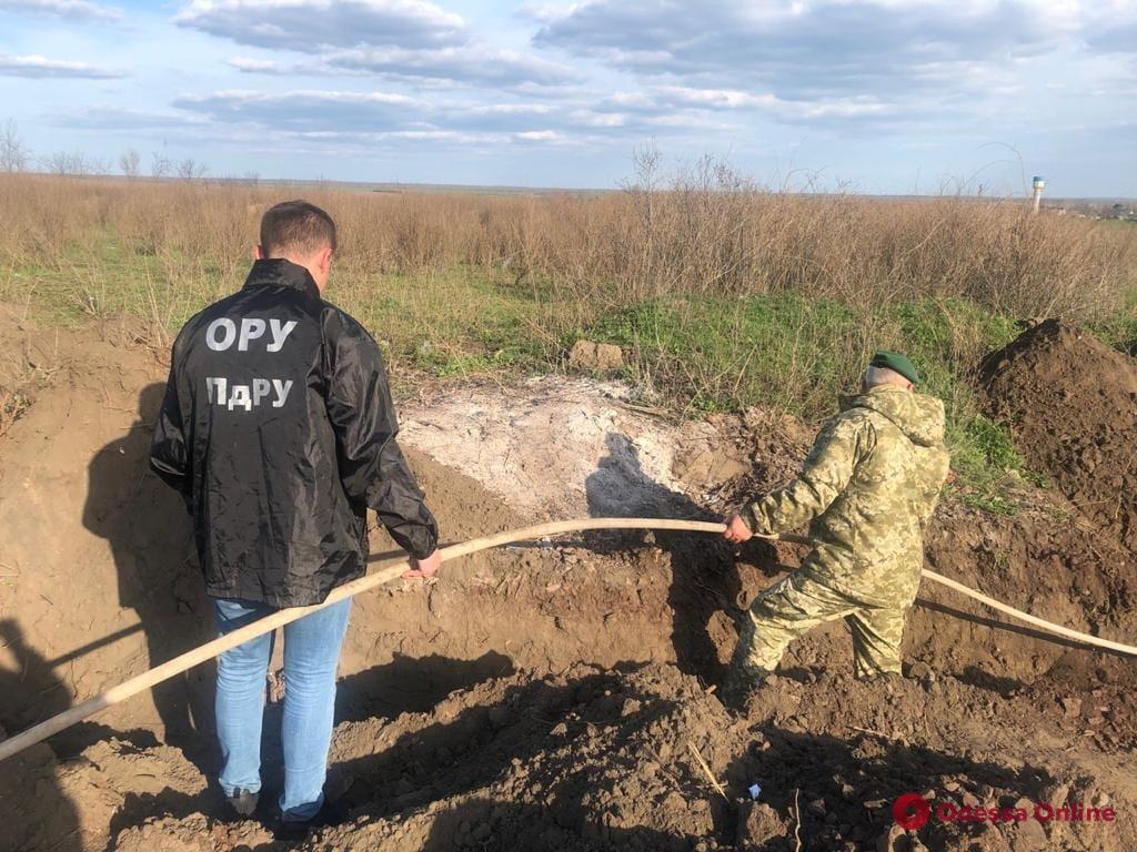 В Одесской области пограничники демонтировали спиртопровод из Молдовы