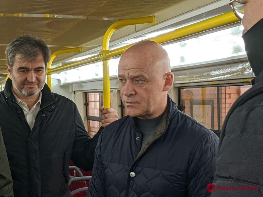 В Одессе представили третий трехсекционный трамвай Odissey MAX (фото)