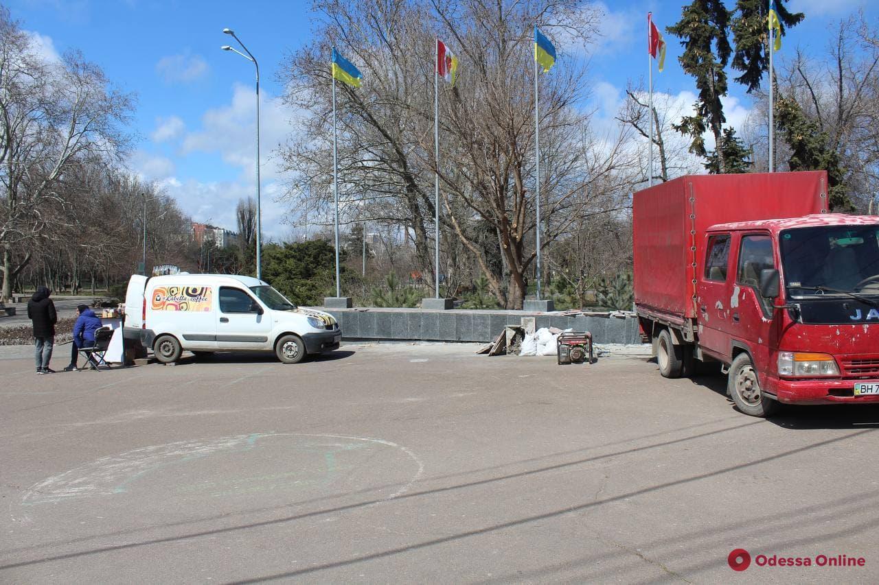Одну из входных групп парка Победы восстановят к 10 апреля