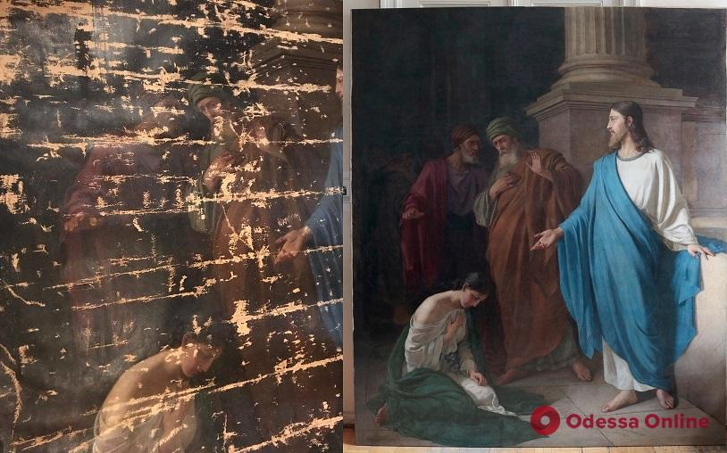 В одесский музей вернут после реставрации картину «Христос и Грешница» Людвига Веселовского