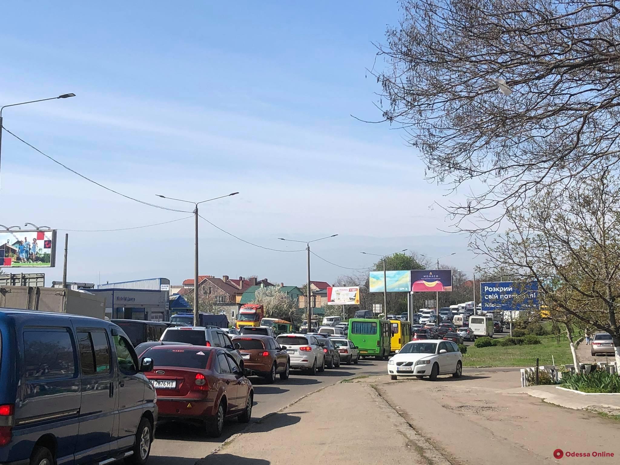 С поселка Котовского в сторону центра города образовалась огромная пробка