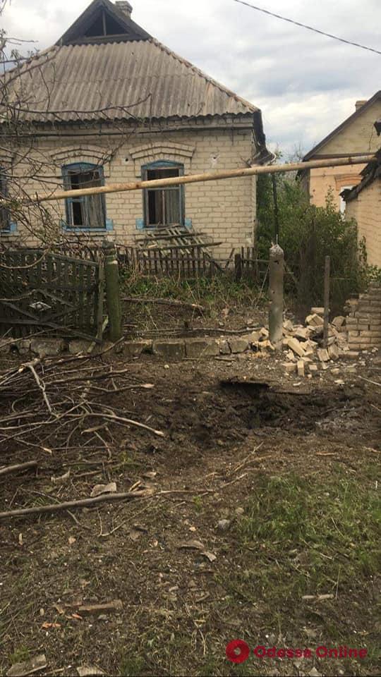 Накануне 9 мая сепаратисты обстреляли прифронтовое село вблизи позиций Одесской мехбригады