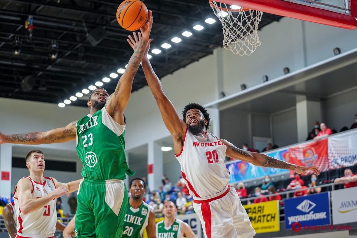 Баскетбол: «Химик» из Южного проиграл в первом четвертьфинале Суперлиги