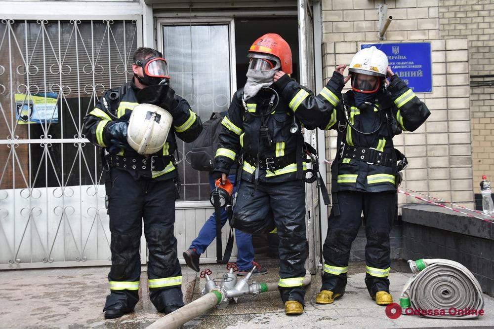 В Госархиве на Пироговской вспыхнул пожар